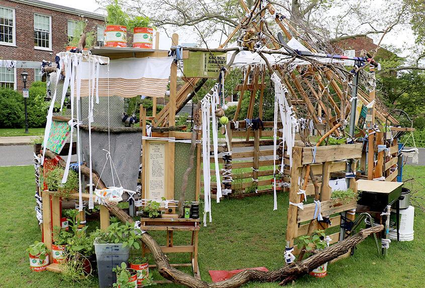 artist alumna Jill Sigman '85 constructed the Living Room