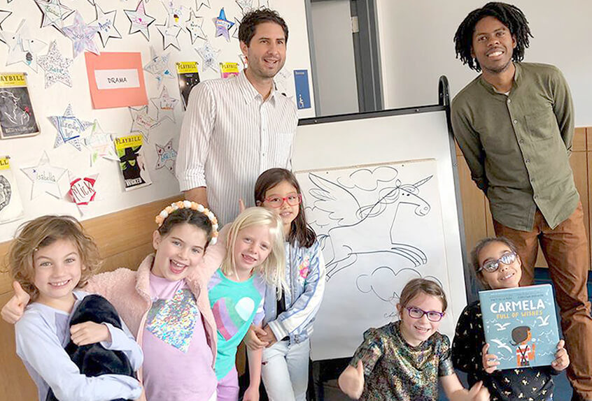 Matt de la Pena, lower school author visit