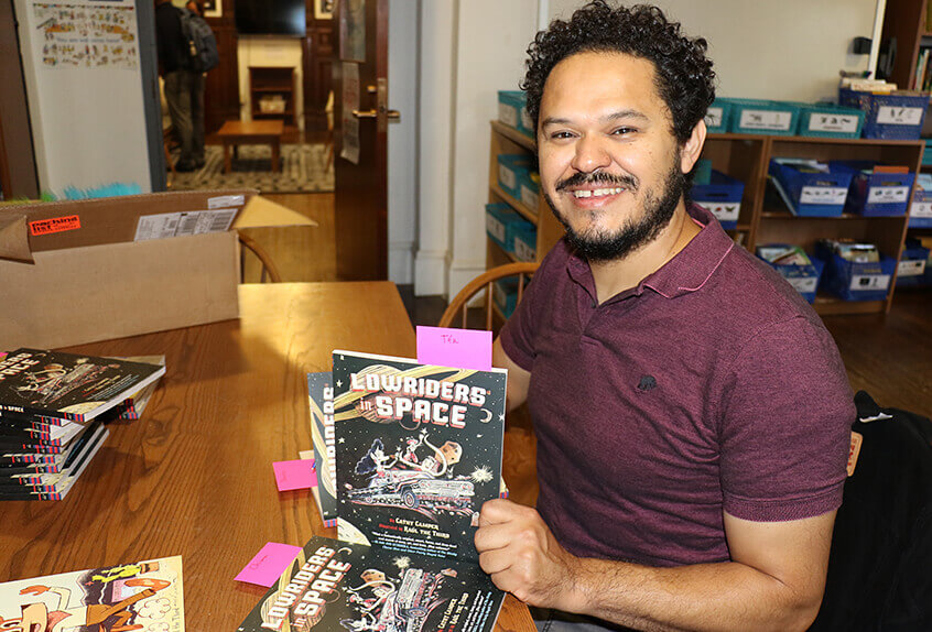 Raul the Third, lower school author visit
