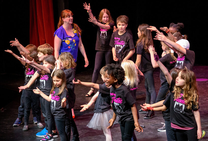Lower School students enjoying the Poly Theater Afterschool program