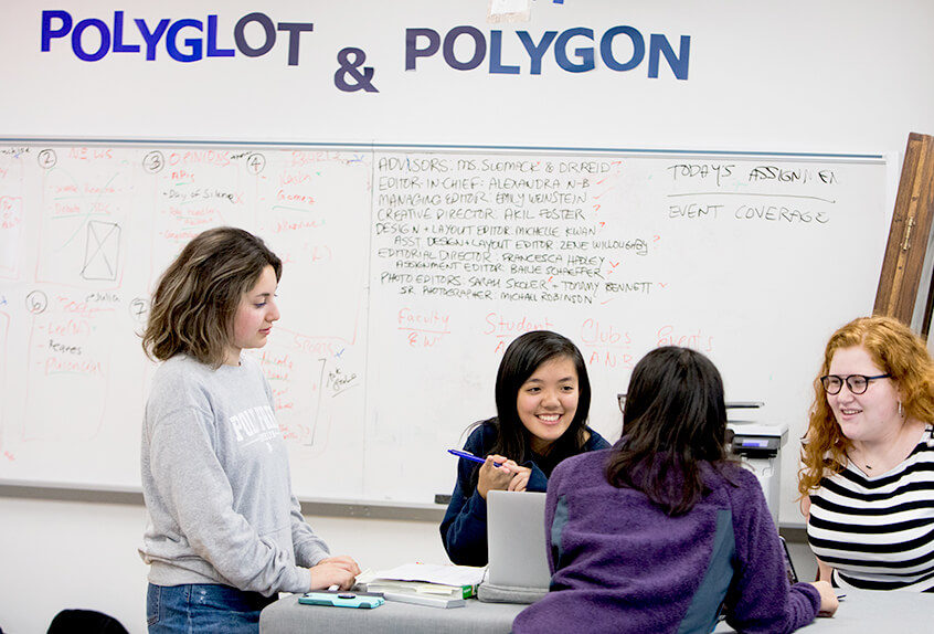 Polyglot yearbook staff