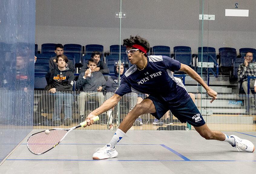 Boys squash player