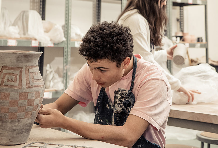 Upper school ceramics