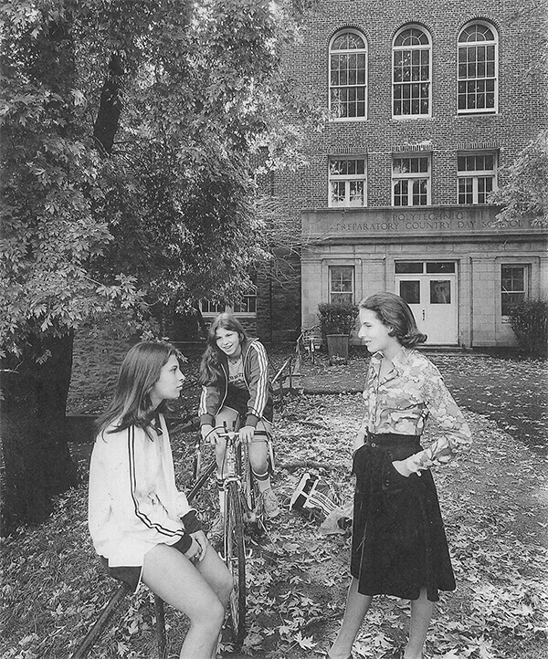 Female Poly Students on Malkin Terrace