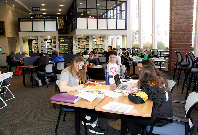 Upper school library