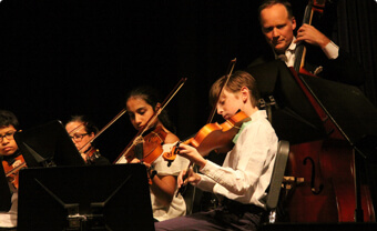 Middle school orchestra image