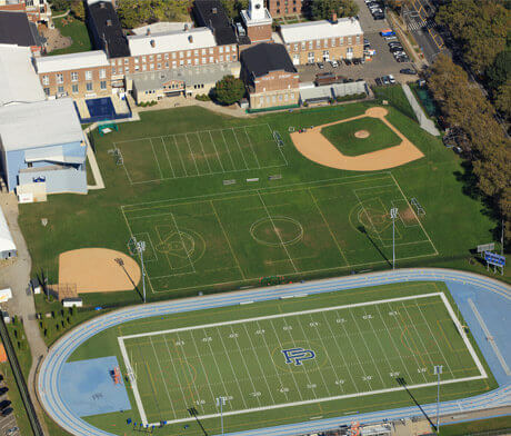 Aerial view of Dyker Heights athletics fields