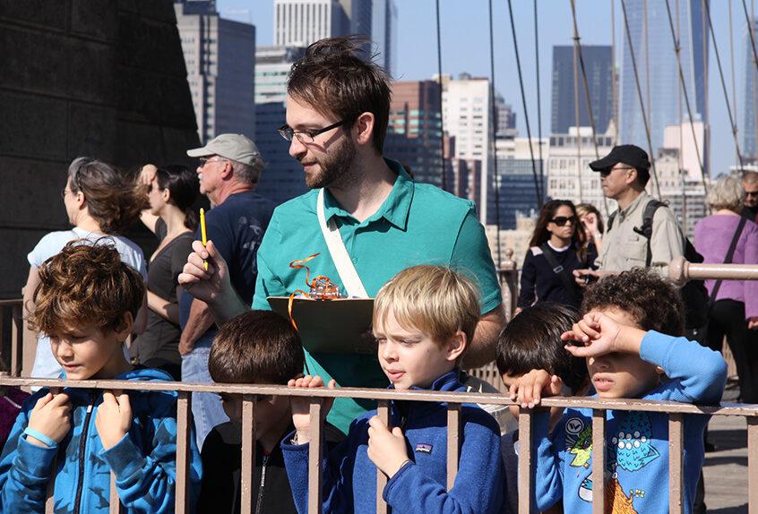 Lower school trip to the Brooklyn Bridge