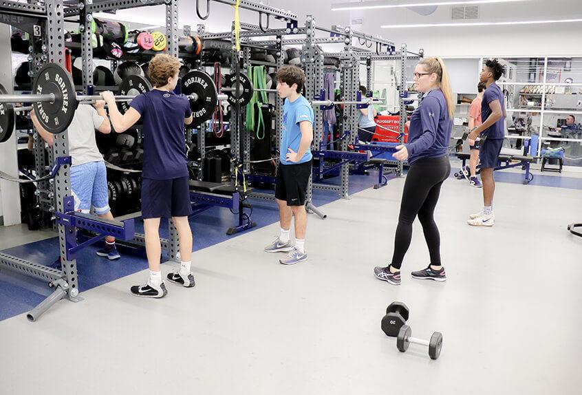 Athletic training facilities