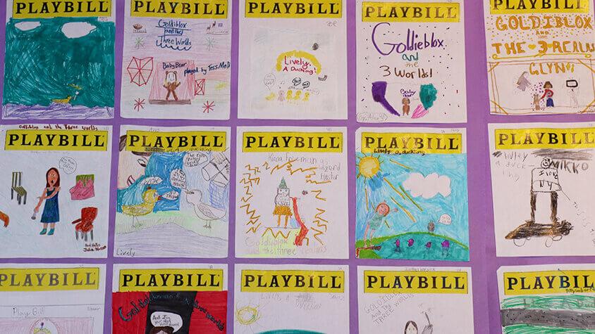 Lower School Student Playbill art