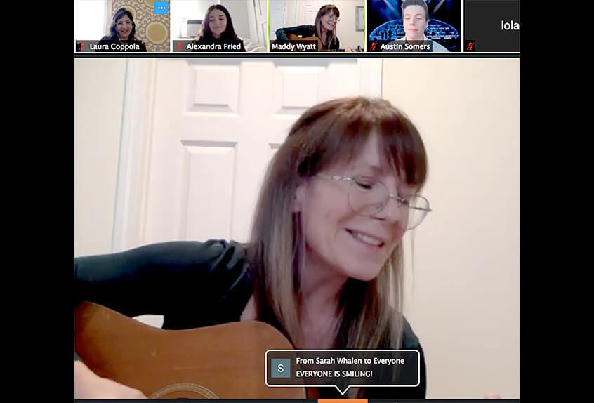 Virtual coffee house community talent