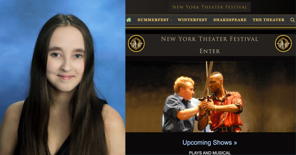 Hallie Stephenson's to be produced for upcoming New York Theater Festival