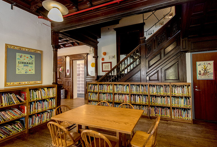 Poly Prep lower school interior library