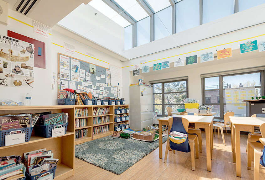 Poly Prep lower school interior classroom