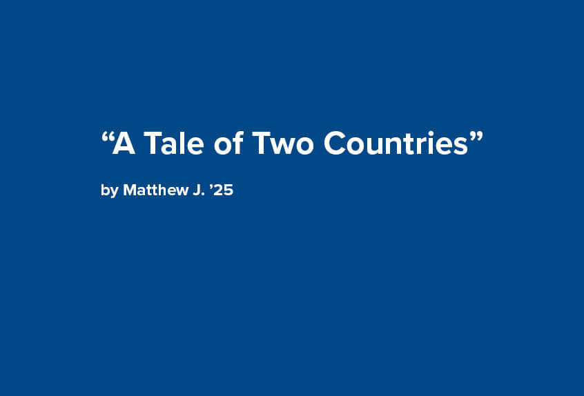 A Tale of Two Countries poem by 7th grader Matthew J.