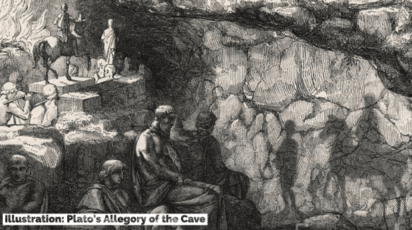 Plato's Allegory of the Cave Illustration