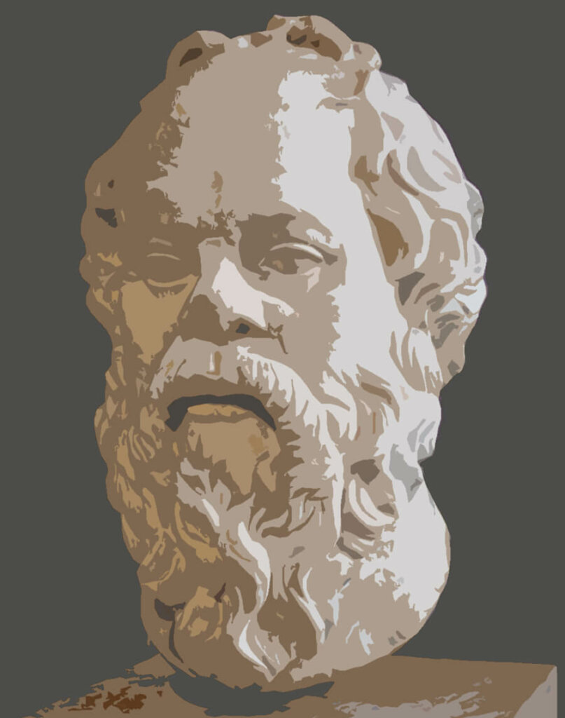 Socrates statue from Louvre