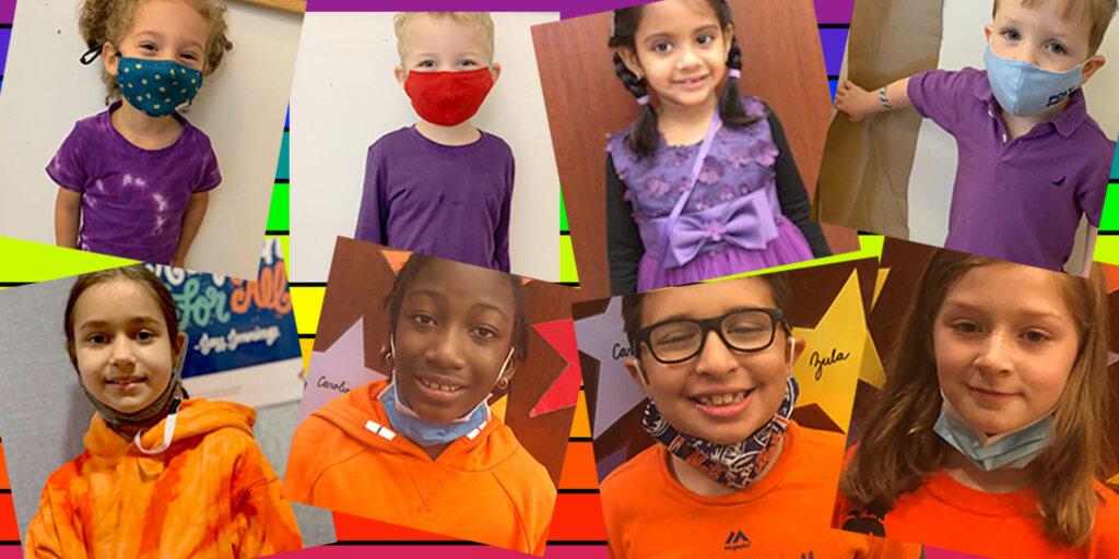 LS Ally Week Purple and Orange kids