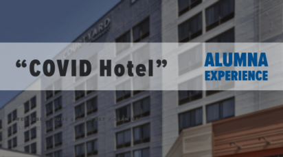Alumna experience COVID hotel
