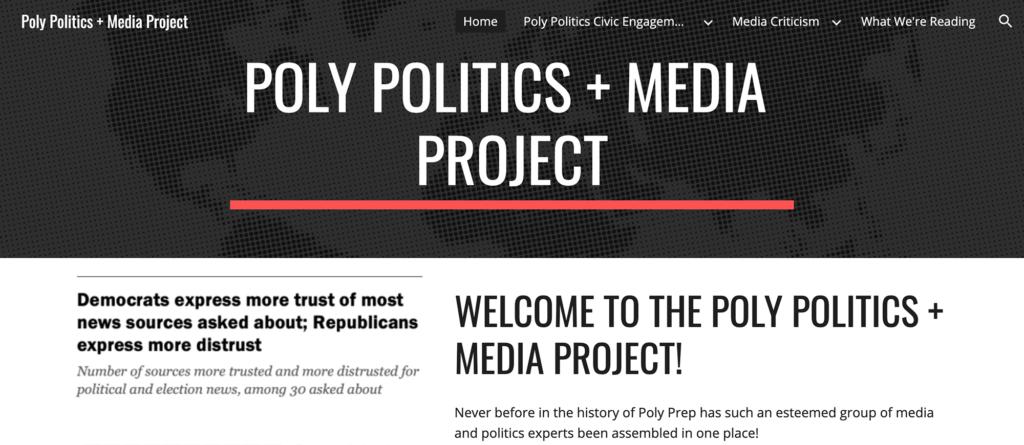 History Politics and Media Project Website 2020