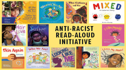 Anti-Racist Read-Aloud book collage