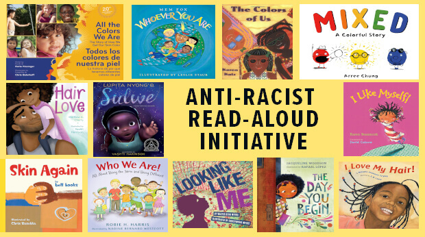 Anti-Racist Read-Aloud book collage