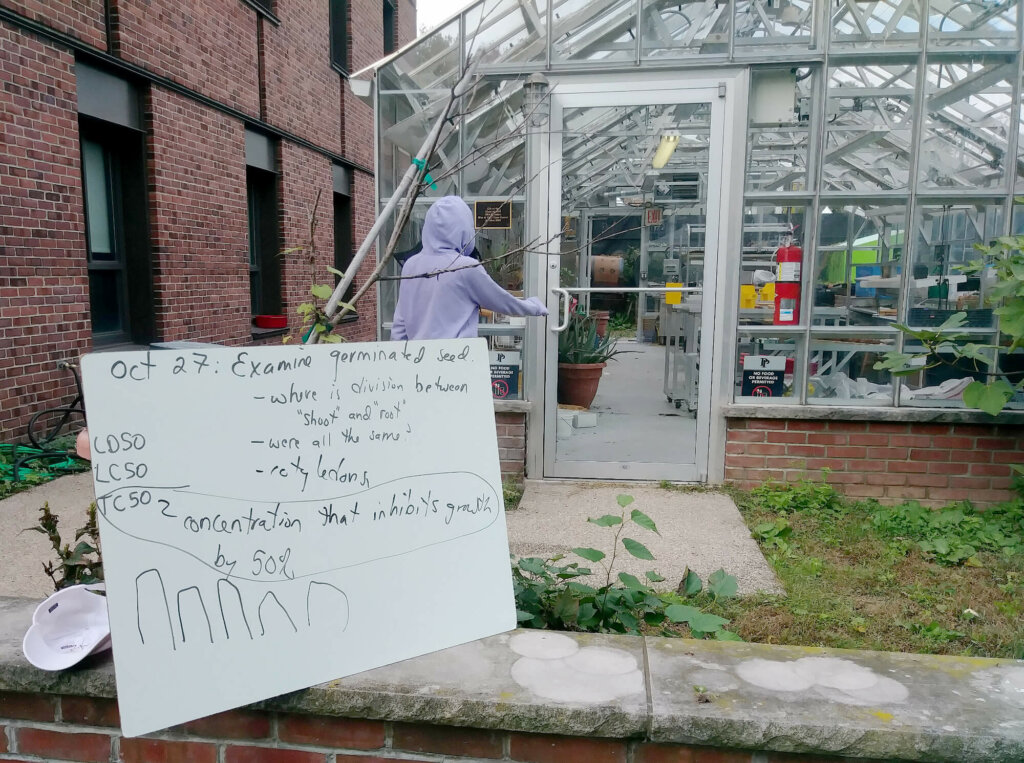 Upper School science Urban Food Systems outdoor lab poster