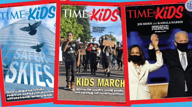 Time for Kids collage of covers