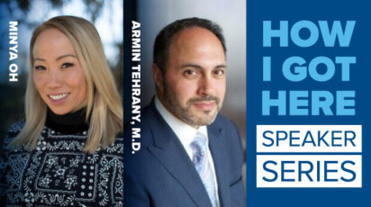 How I Got Here speaker series Minya Oh P'33 and Dr. Armin Tehrany '87, P'23, '25