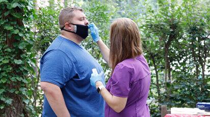 Covid Testing nasal swab