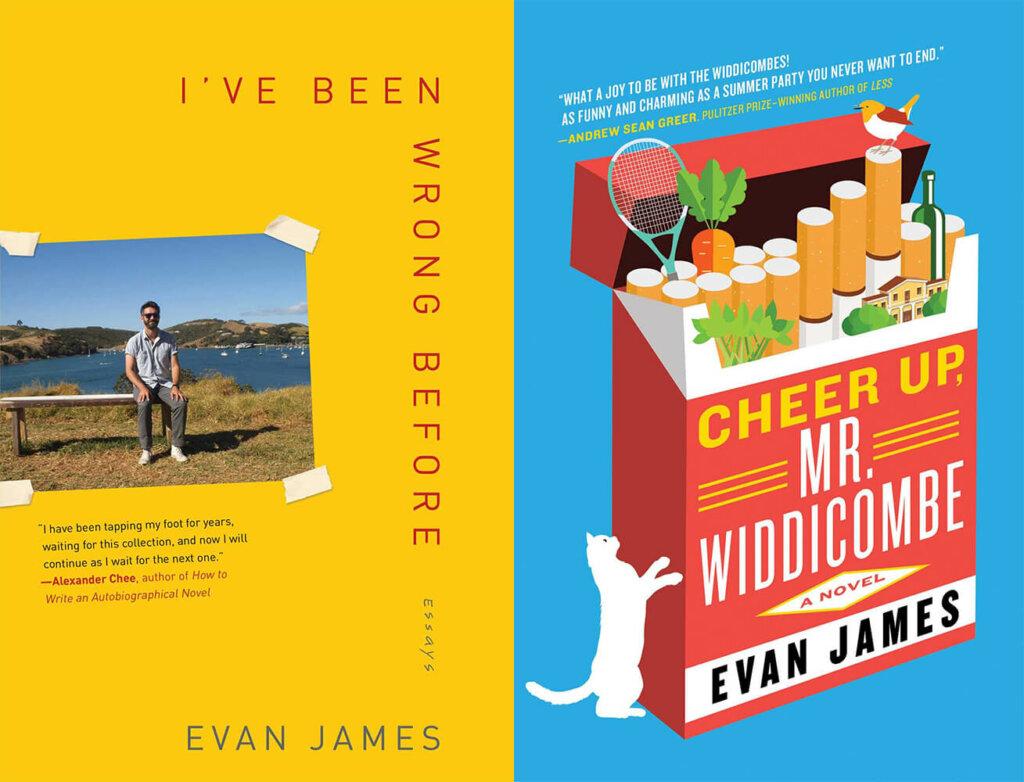 Evan James book covers