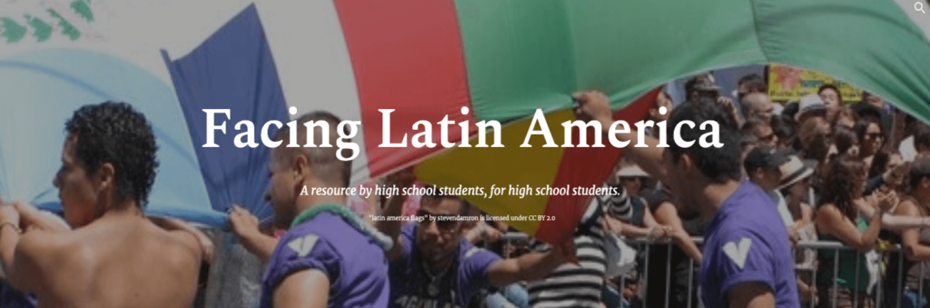 Facing Latin America Website by Students