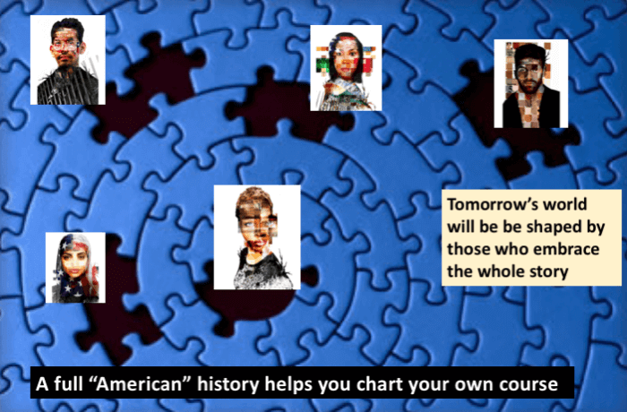 Poly Connected Full American History puzzle slide