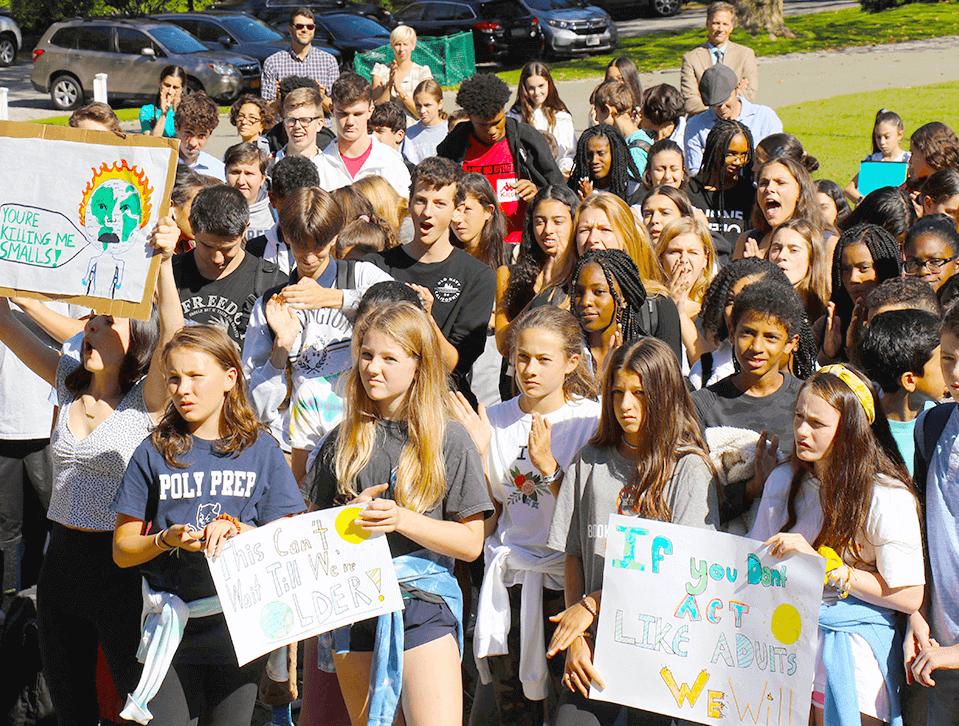 Dei Climate Strike student protest