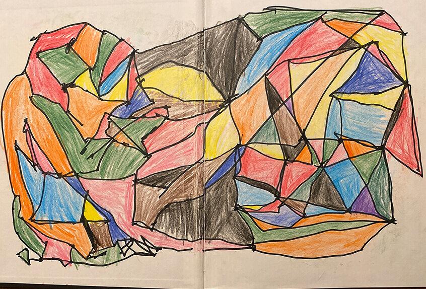 Grade 1: Dots Lines Colors, Sasha B. '32