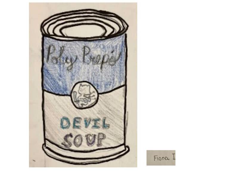 Grade 4: Pop Art Soup Cans, Fiona I. '29