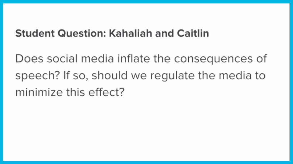 Cancel Culture Student Question