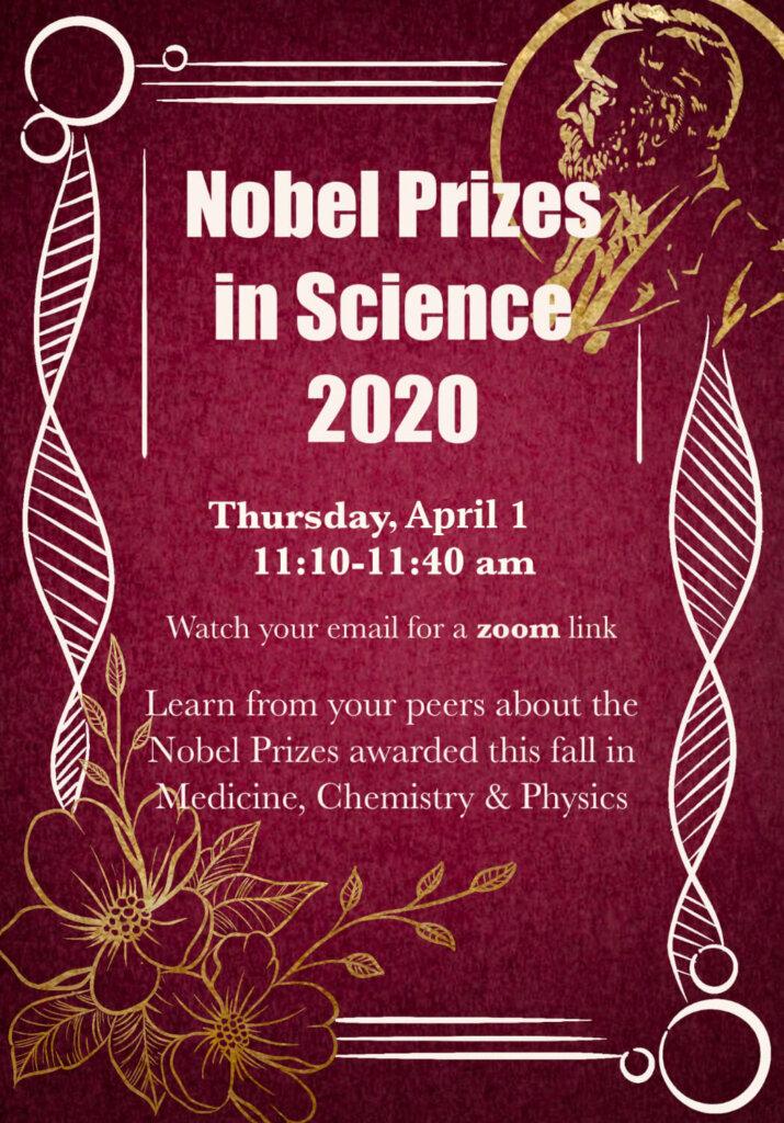 Nobel Prize 2020 Lunch Forum Flyer