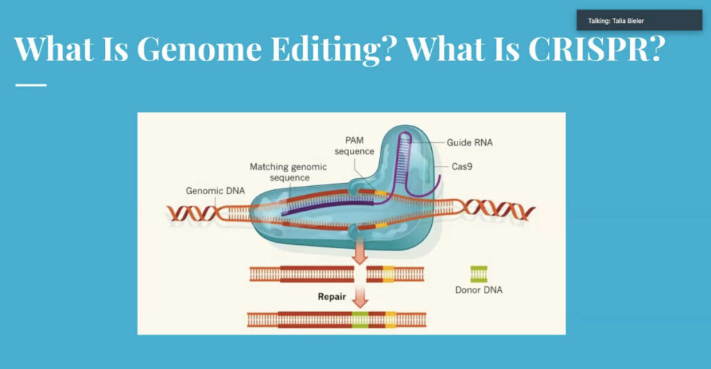 Nobel Prize Forum Genome Editing slide