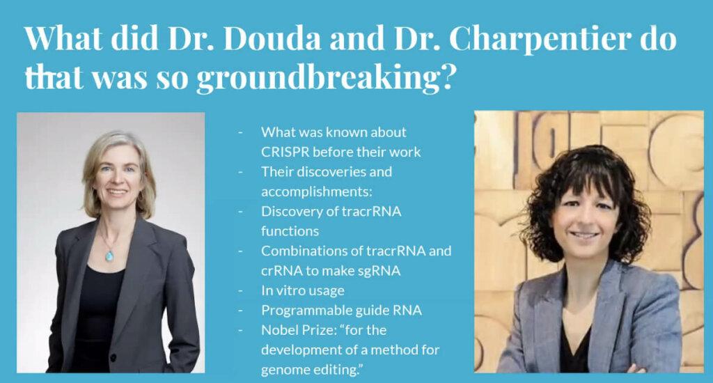 Nobel Prize Forum Douda-Carpentier slide