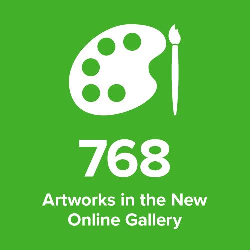 stat artwork in online gallery