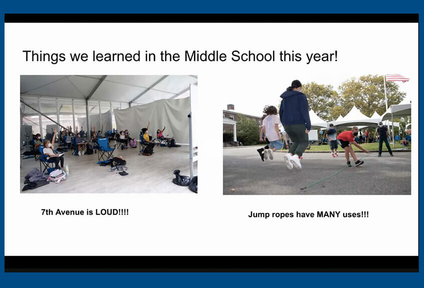 middle and upper school assembly what we learned