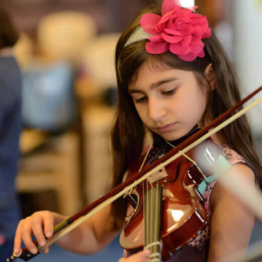 LS girl with violin