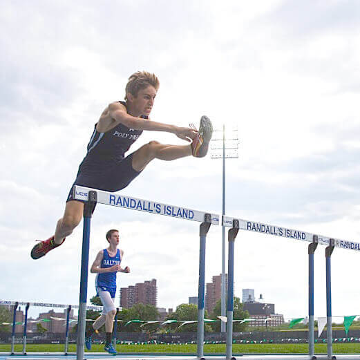 This Is Poly Square hurdles