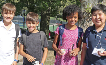 Admissions Middle School students