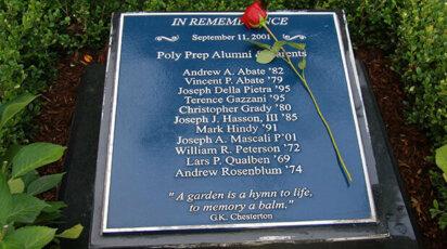 Poly on Film 9/11 Memorial plaque