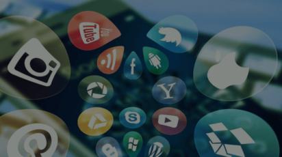 AI scholars program social media icons